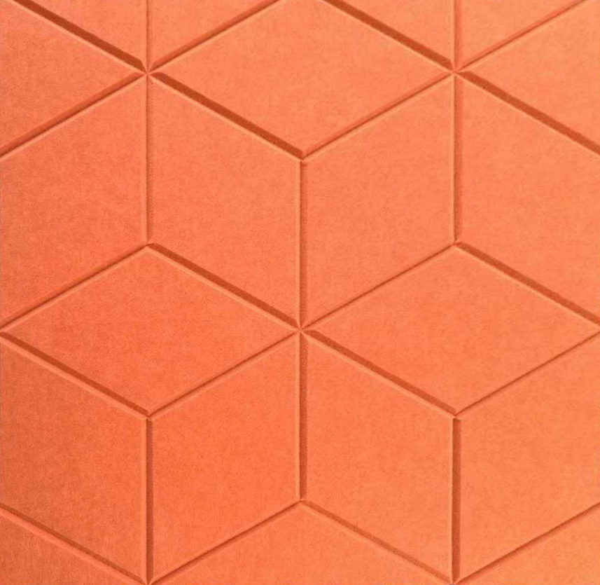 J2 PET Felt Engraved Parallelogram