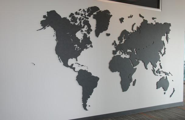 J2 PET Felt World Map