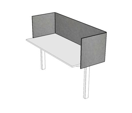 J2 PET Felt Custom Desk Dividers Wraparound
