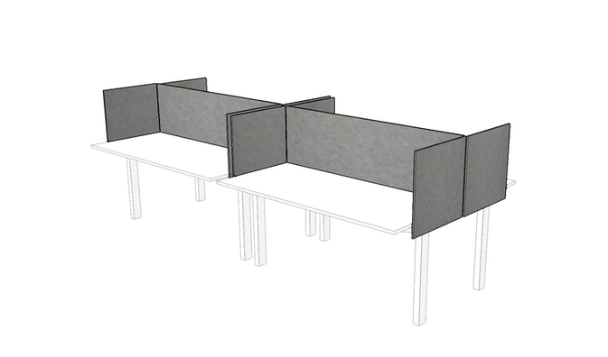 J2 PET Felt Custom Desk Dividers