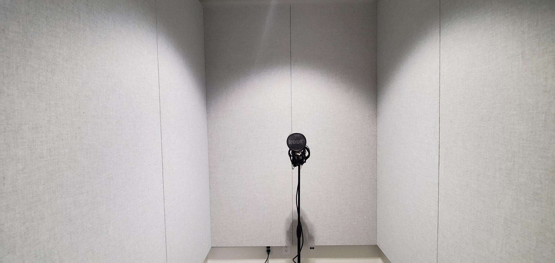 J2 Fabric Wrapped Panels Recording Booth