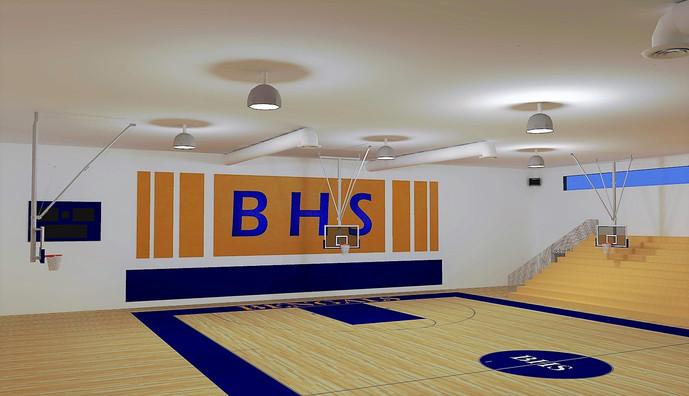 J2 Felt Wall Inlay School Gym