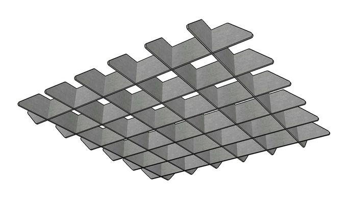 J2 PET Felt Blade Cloud Grid - Option A
