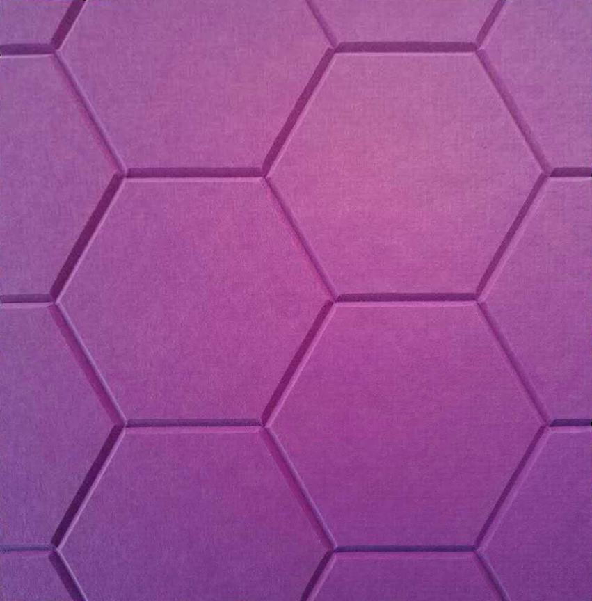 J2 PET Felt Engraved Hexagonal