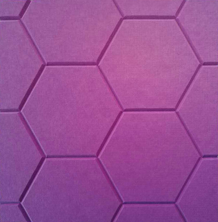 J2 PET Felt Engraved Hexagonal