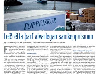SFÚ fréttum dreift með Viðskiptablaðinu í dag