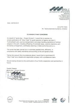 Reference letter Aprile
