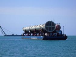 Fractionators on Barge