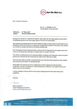 Reference letter Jan De Nul