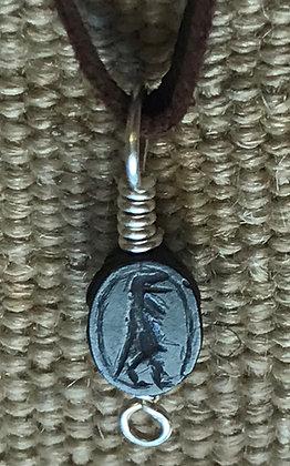 Egyptian New Kingdom (1550 – 1070 BC) Haematite scarab amulet depicting Taweret