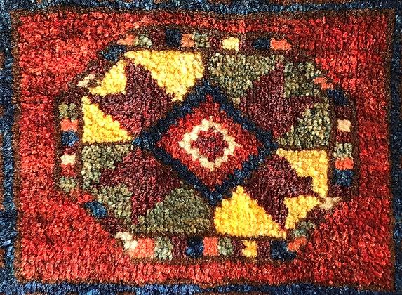 Central Asian pile saddle bag (khorjin), probably Uzbeki