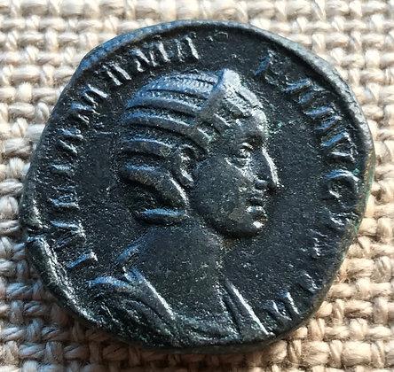 Roman Empire. Julia Mamaea, mother of Severus Alexander (222 – 235 AD). Bronze s