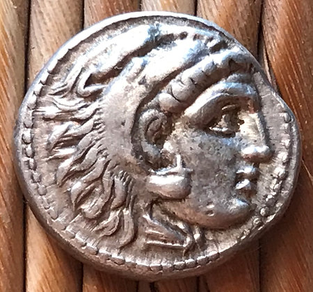 SOLD Greek silver coin (drachm) issued in the name of Alexander the Great
