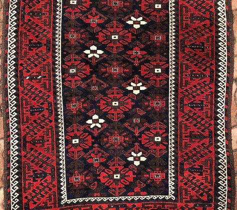 Baluchi carpet with mina khani design