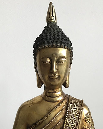 Nicely executed seated Buddha cast in brass