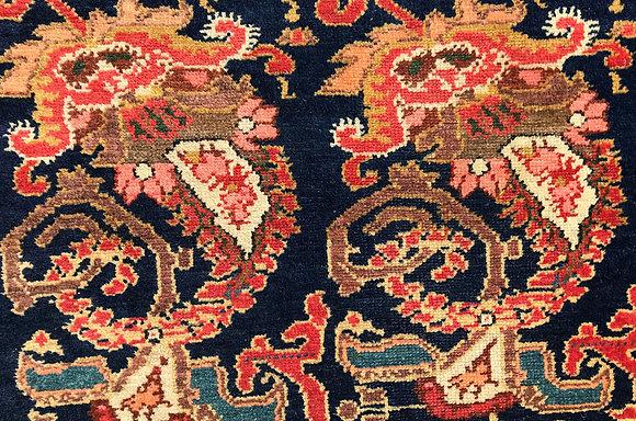 Kurdish carpet with large botehs
