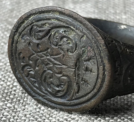 Medieval Northern European bronze ring (circa 1300 - 1500 AD)