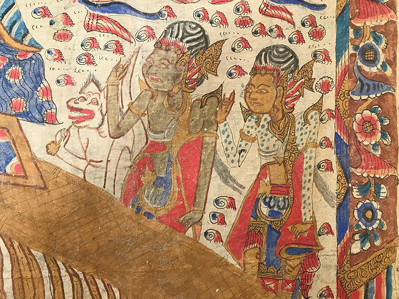 Balinese temple painting on fabric
