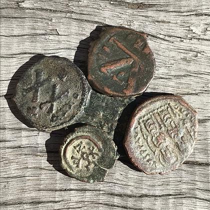 Byzantine Empire, Group of 5 unidentified bronzes.