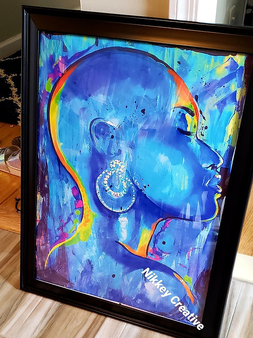 """Contemplate "" 16x20 Framed Glossy Print."