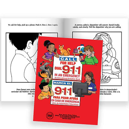 Telephone For Help, Call 9-1-1 Bilingual Educational Activities Book