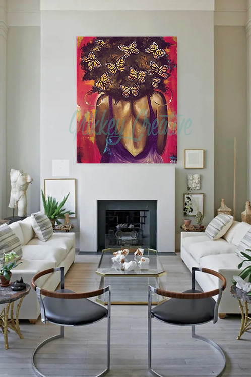 """"""" BUTTERFLY EFFECT"""" CANVAS PRINT."""