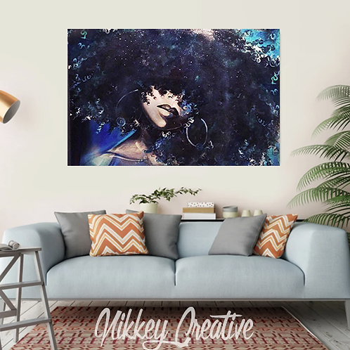 """CODE BLUE"" CANVAS PRINT"