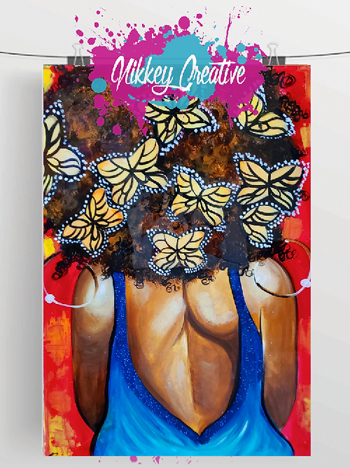 """BUTTERFLY EFFECT""  GLOSSY PHOTO PRINT"