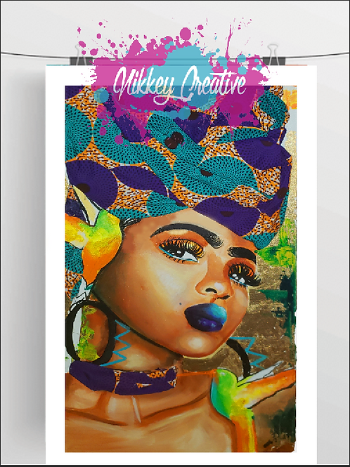 """""""WRAP QUEEN"""" GLOSSY PHOTO PRINT"""