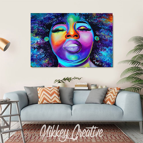 """COLOR ME NATURAL"" CANVAS PRINT"