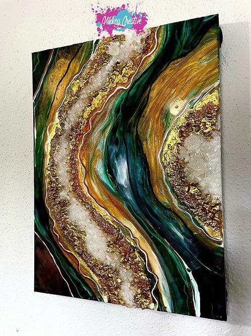 """Custom """" Geode"""" Crystal Painting"""