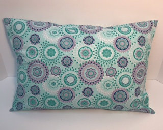 Teal and Purple Heart Surgery Recovery Pillow