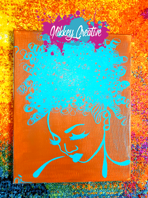 """CURL QUEEN"" ORIGINAL CANVAS PAINTING"