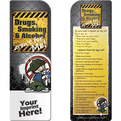 Bookmark - Drugs, Smoking, and Alcohol Aren't for Me