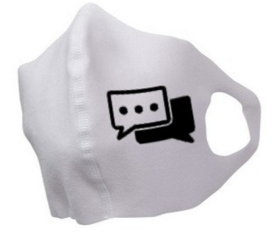 """Chat Box"" Face Mask"