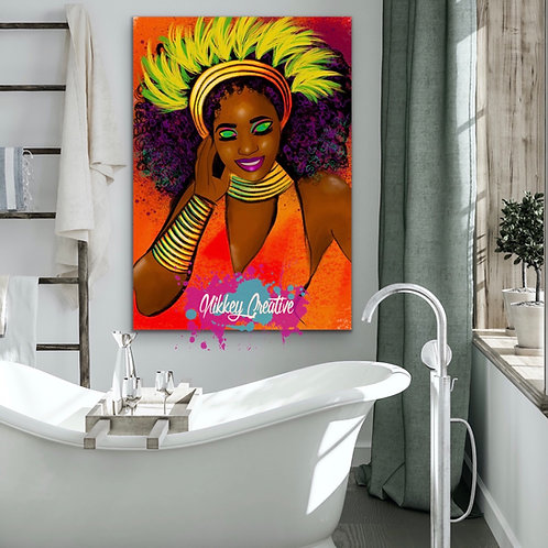 """VIBRANT QUEEN"" CANVAS PRINT."