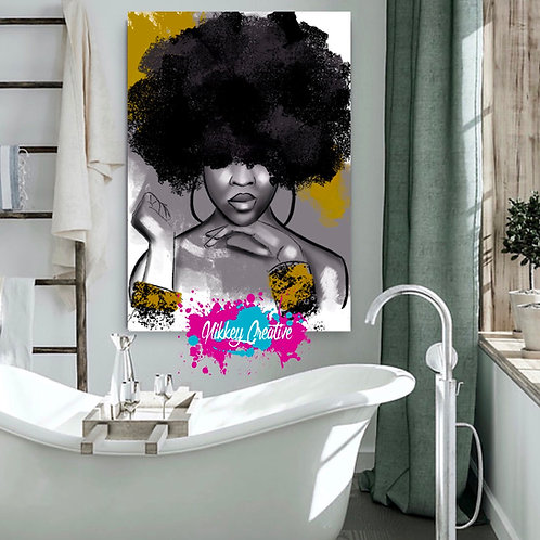 """"""" QUEEN THINGZ"""" CANVAS PRINT."""