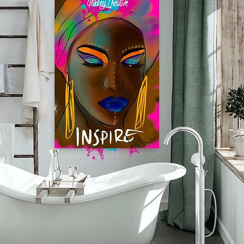"""INSPIRE"" CANVAS PRINT."