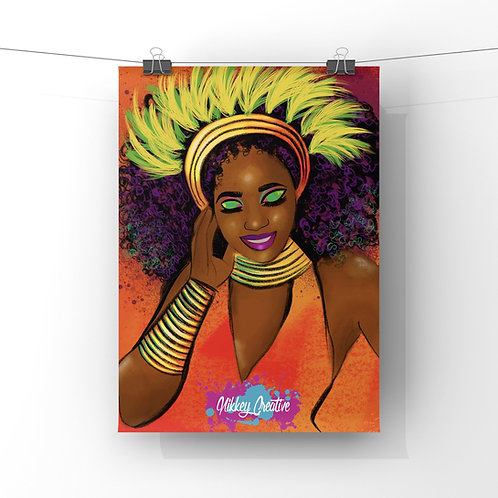 """VIBRANT QUEEN"" GLOSSY PHOTO PRINT"