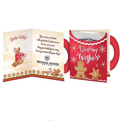 Warm Wishes Mug-Shaped Greeting Card With Hot Chocolate