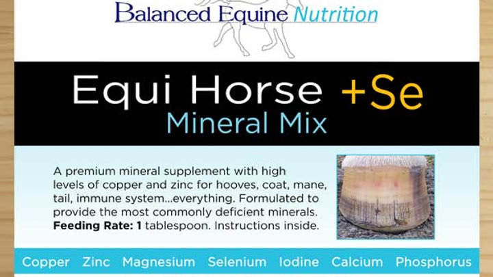 BALANCED EQUINE NUTRITION Equi Horse + SE, (known in NZ as Hoof Rescue+Se)