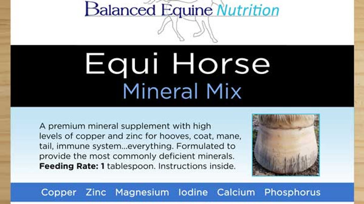BALANCED EQUINE NUTRITION Equi Horse mix (formerly known as Hoof Rescue)