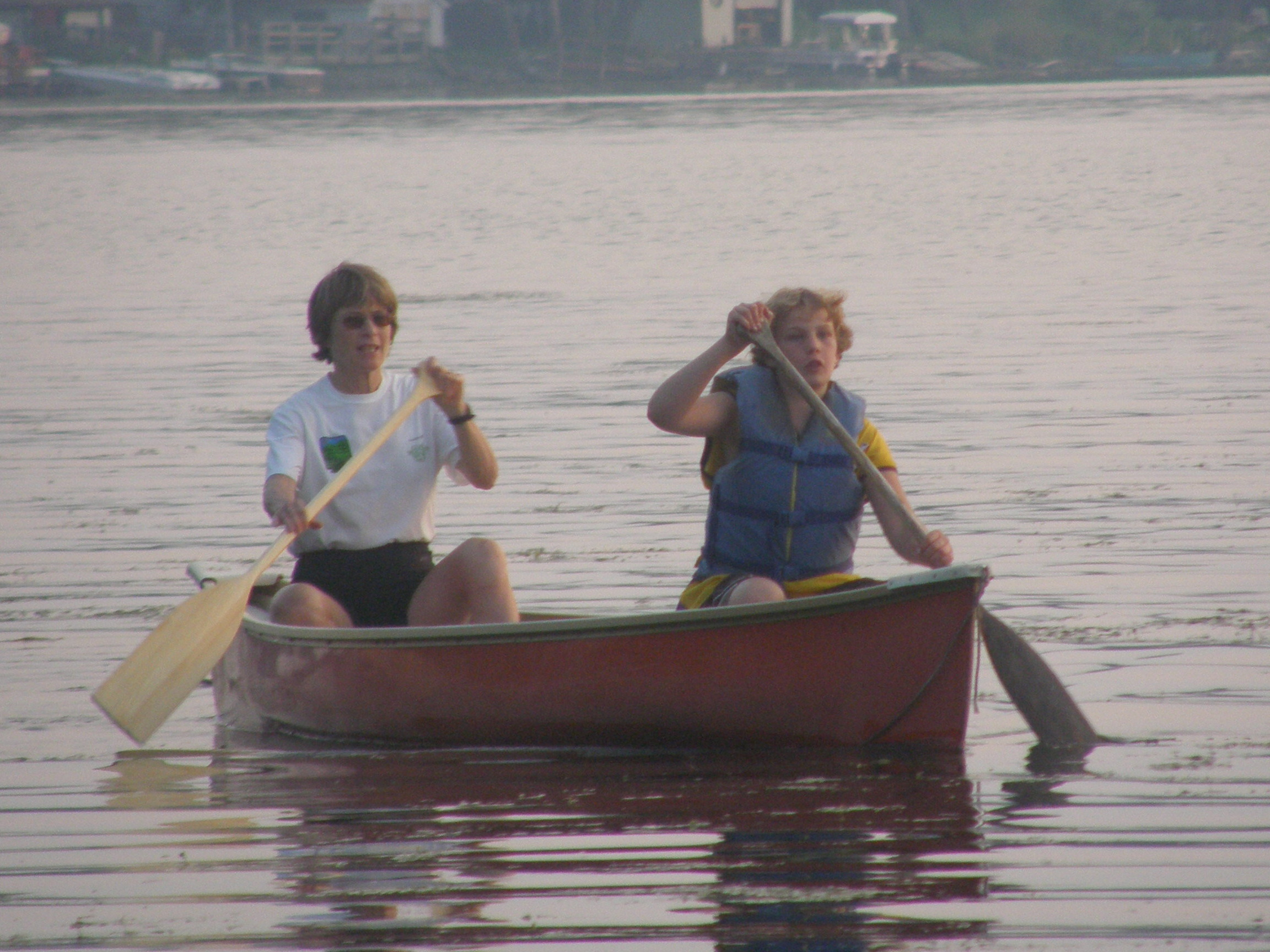 Canoeing at Sunset Cove Resort