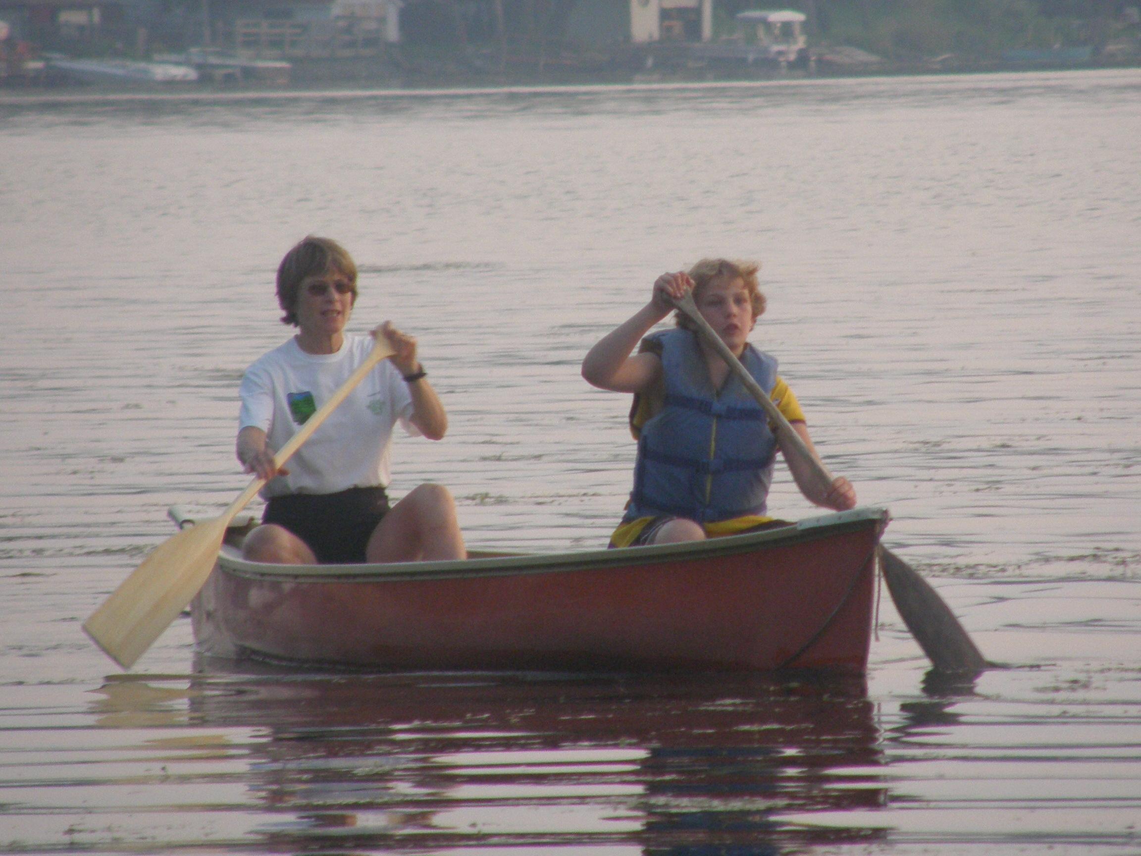 Canoeing at Sunset Cove Resort