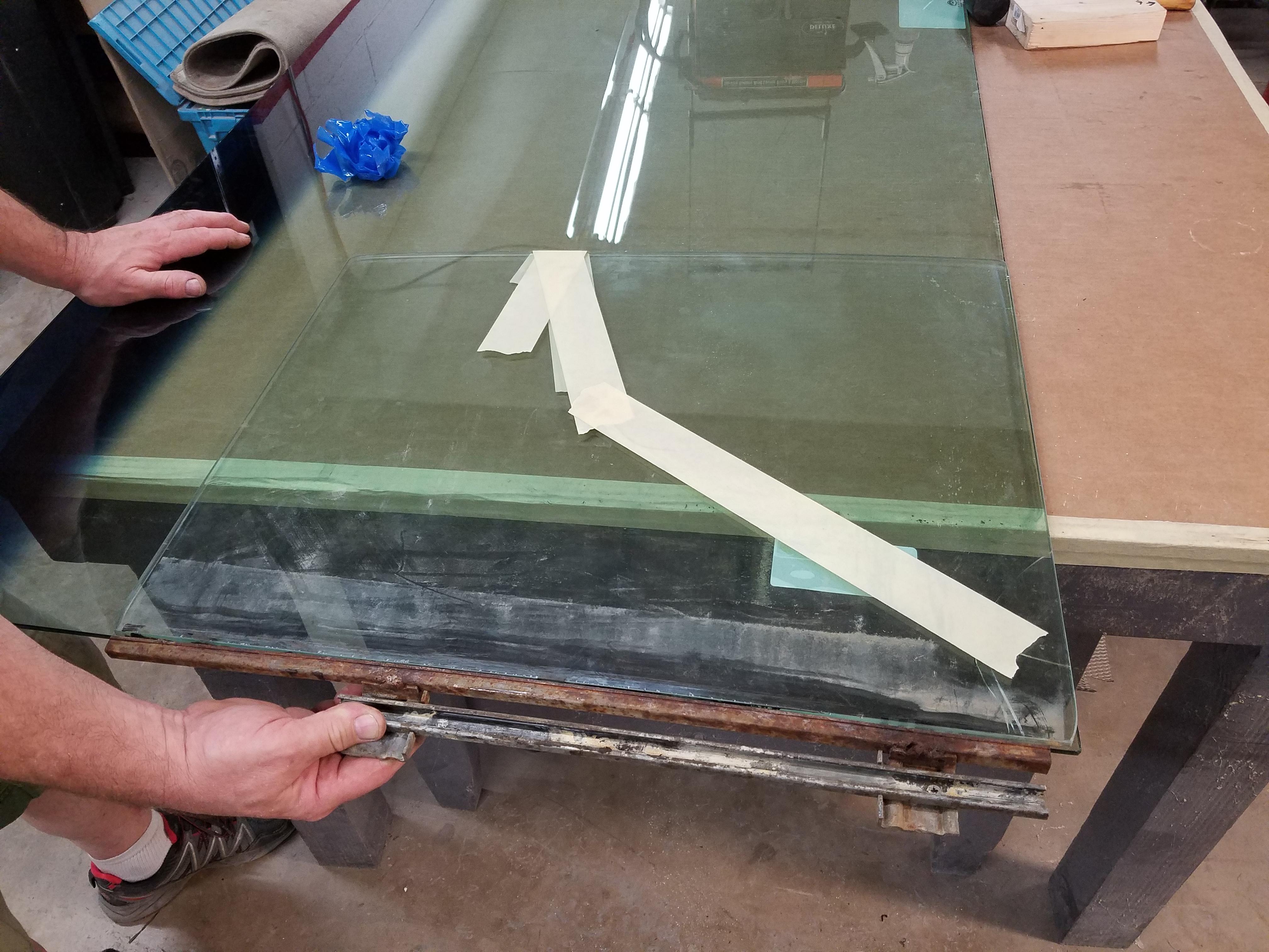 Damaged side glass