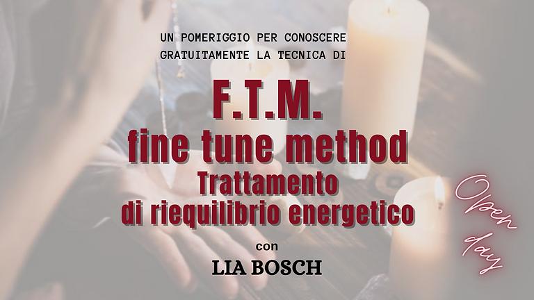 """Open day """"F.T.M. Fine Tune Method"""" con Lia Bosch"""