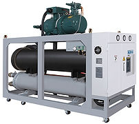 Combination of water chiller