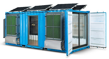 Portable Evaporative Cooling Fan Container Houses