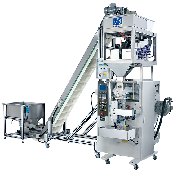 Conveyer Feeding System Vertical Form-Fill-Seal Machine