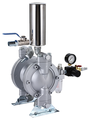 """3/8"""" Twin Diaphragm Pump(Two Outlets、Two"""